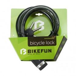 Antifurt BikeFun DEFENDER 3008, cablu (cheie), dimensiuni 25mm x 1000mm