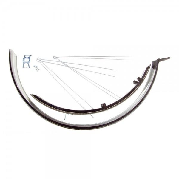 Aparatori de noroi BikeFun pentru MTB 26, material aluminiu / plastic, culoare negru / carbon / negru