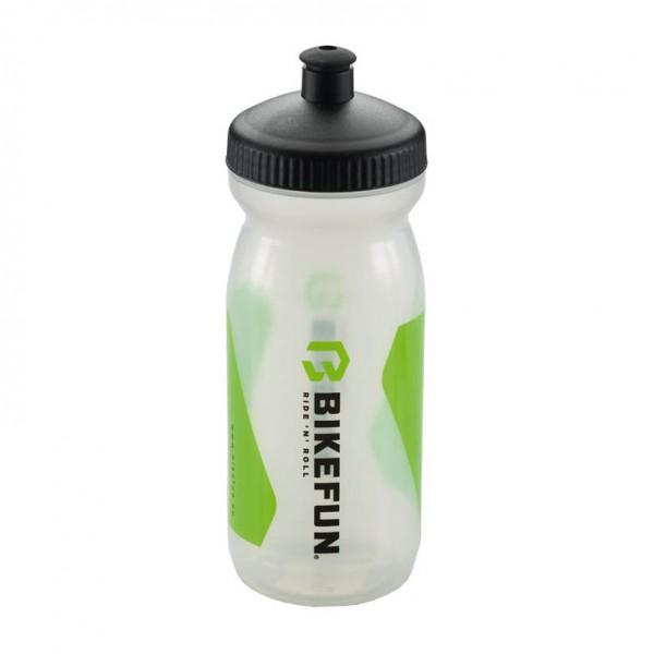 Bidon BikeFun 600ml, transparent (verde)