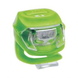 Stop fata BikeFun PIXIE, 2 LED-uri albe, culoare verde