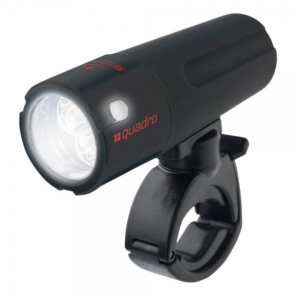 Far Sigma QUADRO, 4 LED-uri albe, culoare negru