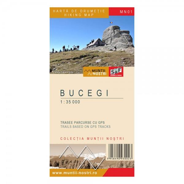 Harta de drumetie a Muntilor BUCEGI (MN01), scara 1:35000