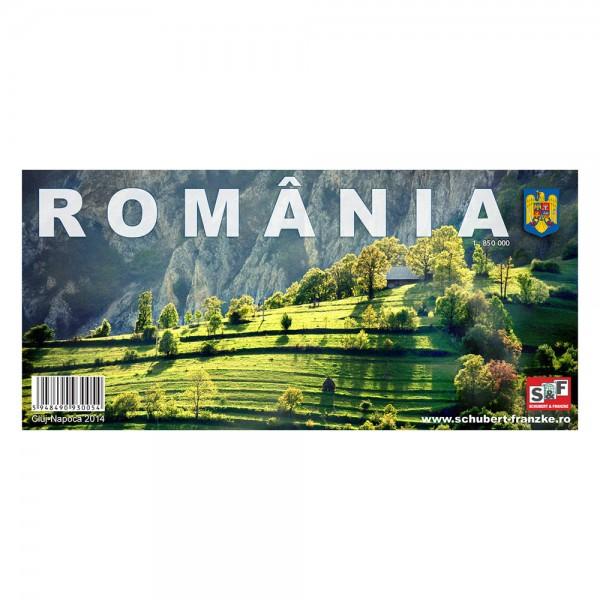 Harta rutiera a ROMANIEI, scara 1:850000