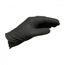 Manusi Wurth de unica folosinta, lungi, ambidextre, nesterile, fara pudra, culoare negru, marime L (100buc. / set)