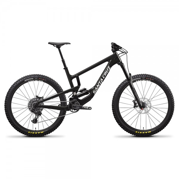 Bicicleta Santa Cruz 2020 NOMAD 4 CARBON C R 27.5, culoare negru lucios / alb, marime L All Mountain si Enduro