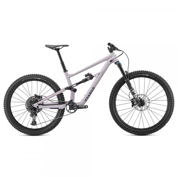 Bicicleta Specialized 2020 STATUS FSR 29 (27.5) 140, culoare liliac deschis / albastru metalizat, marime S3 All Mountain si Enduro