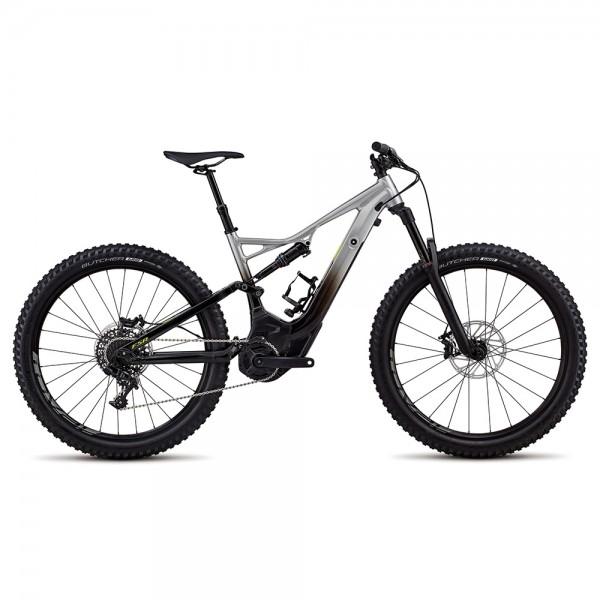 Bicicleta Specialized 2018 MEN'S TURBO LEVO FSR COMP 6FATTIE / 29, culoare argintiu / negru / verde neon