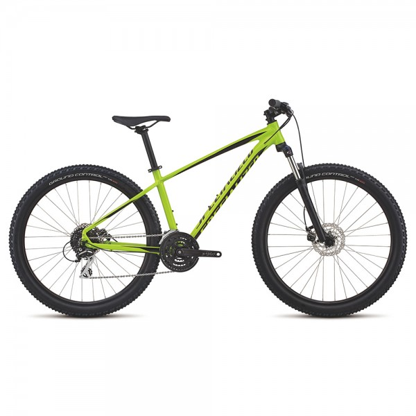 Bicicleta Specialized 2018 MEN'S PITCH SPORT 27.5 culoare verde neon / negru, marime S XC Hardtail