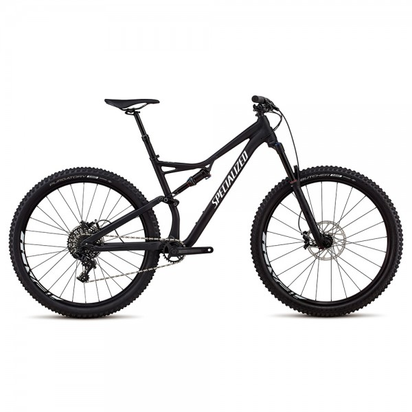 Bicicleta Specialized 2018 STUMPJUMPER FSR COMP ALLOY 29 / 6FATTIE culoare negru / alb, marime L XC si TRAIL  Full-Suspension