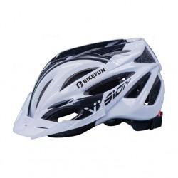 Casca BikeFun VISION culoare negru / alb, marime L (58-61cm)