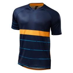 Tricou ciclism Specialized 2016 ENDURO COMP, cu maneci scurte, culoare bleumarin / portocaliu, marime XL