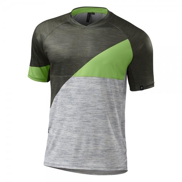 Tricou ciclism Specialized 2016 ENDURO COMP, cu maneci scurte, culoare verde / gri, marime XL
