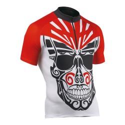 Tricou ciclism NorthWave GHOST RIDER, cu maneci scurte, culoare alb / rosu, marime L