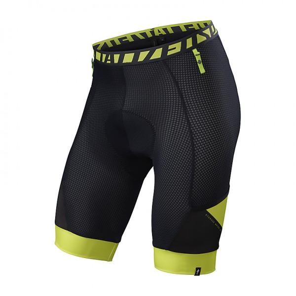 Interior cu bazon Specialized 2016 MTN LINER SWAT pentru pantalon, scurt, culoare negru / verde neon, marime XL