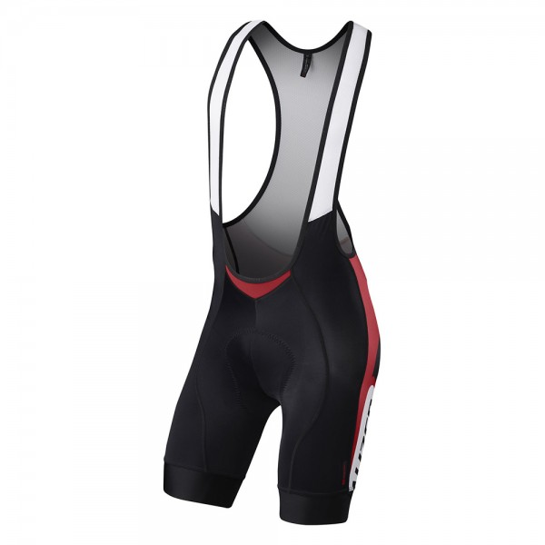 Pantalon ciclism Specialized 2016 SL EXPERT, scurt, cu bretele, cu bazon, culoare negru / rosu / alb (alb), marime L
