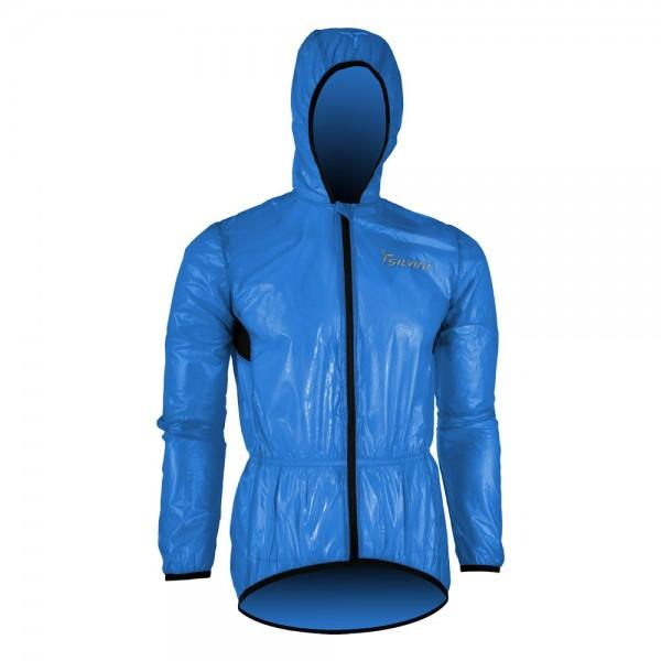 Jacheta Silvini SAVIO UJ397, impermeabila, cu gluga, culoare albastru