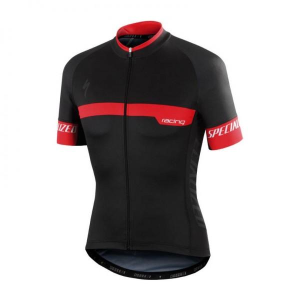 Tricou ciclism Specialized TEAM EXPERT, cu maneci scurte, culoare negru / rosu, marime L