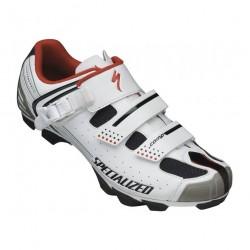 Pantofi Specialized COMP MTB, culoare alb / rosu, marime 46