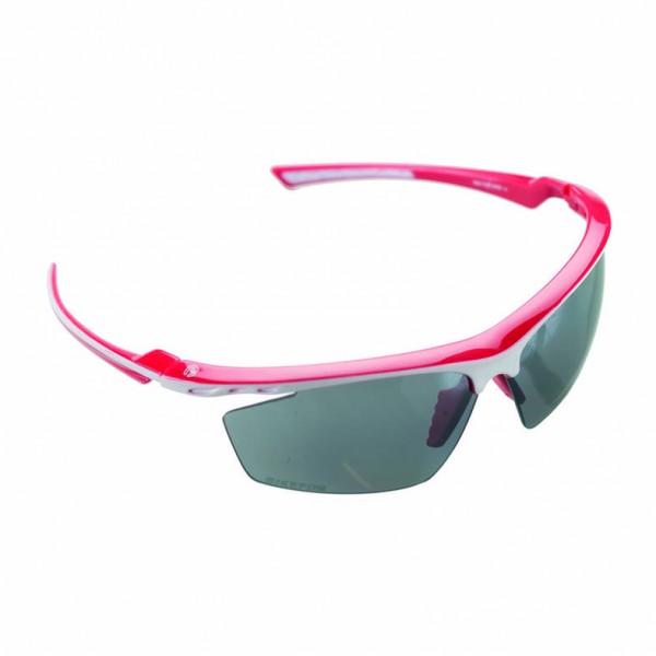 Ochelari sport BikeFun MACH1, culoare rama rosu / alb, culoare lentile fumuriu