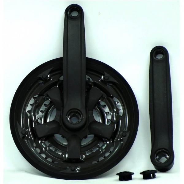Angrenaj Hauser PC10-S2848SG, lungime brate 170mm, 3 foi (48-38-28T), cu protectie, culoare negru Angrenaje si Monoblocuri