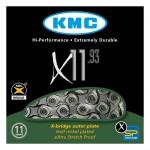 Lant KMC X11.93 pentru 11-viteze, marime 1/2 x 11/128, 114-zale, culoare argintiu / gri Lanturi