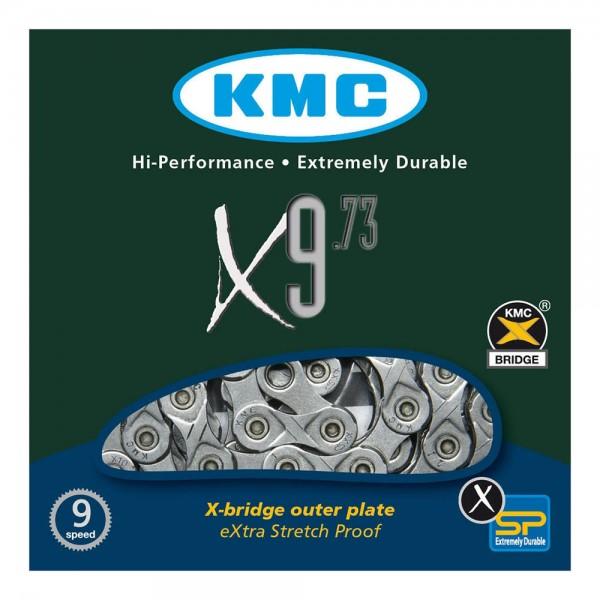 Lant KMC X9.73 pentru 9-viteze, marime 1/2 x 11/128, 116-zale, culoare gri Lanturi