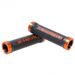 Mansoane BikeFun X-HEAD LOCK-ON lungime 130mm, culoare negru / portocaliu