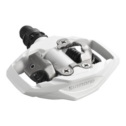 Pedale SPD Shimano PD-M530-W, culoare alb (includ placute SM-SH51)